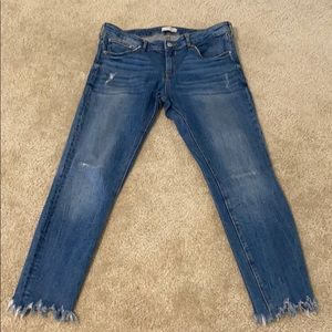 Zara Jeans with frayed detail